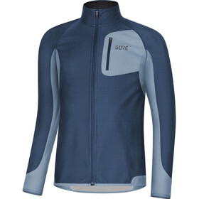 GORE WEAR R3 Partial Gore Windstopper Maillot Hombre, deep water blue/cloudy blue